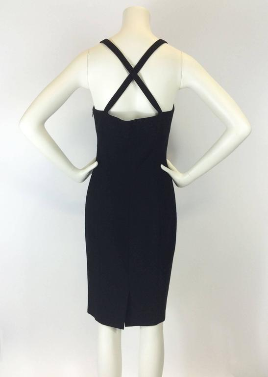 Gianni Versace Black Bodycon Cocktail Dress For Sale 2