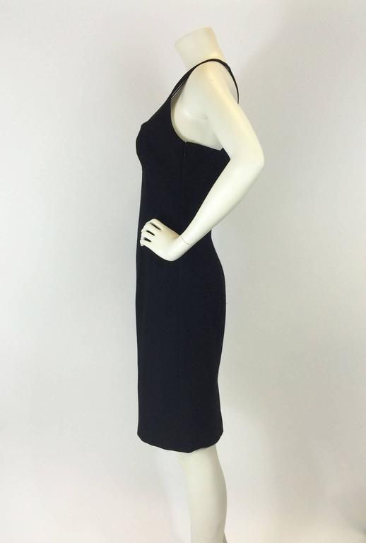 Gianni Versace Black Bodycon Cocktail Dress In Excellent Condition For Sale In San Francisco, CA