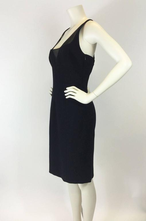 Gianni Versace Black Bodycon Cocktail Dress For Sale 1