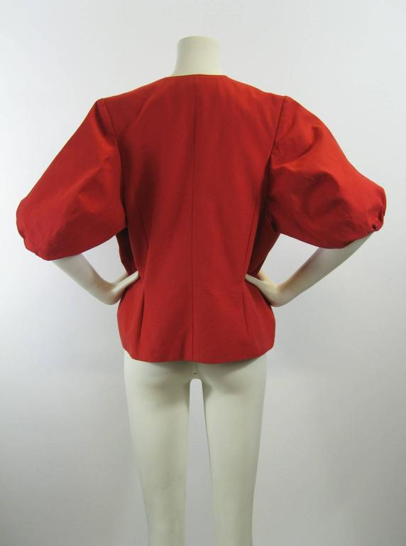 Yves Saint Laurent Puff Sleeve Double Breasted Jacket In Excellent Condition For Sale In San Francisco, CA