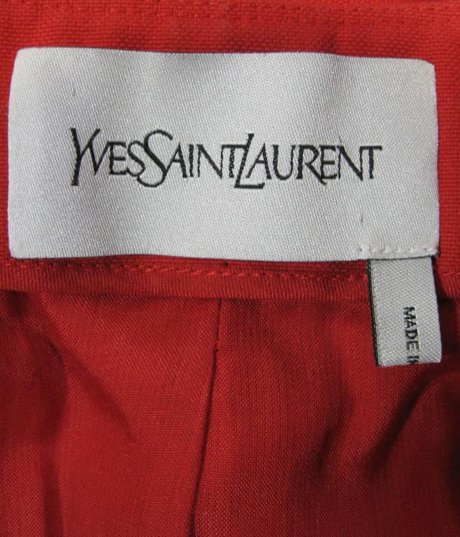 Yves Saint Laurent Puff Sleeve Double Breasted Jacket 6