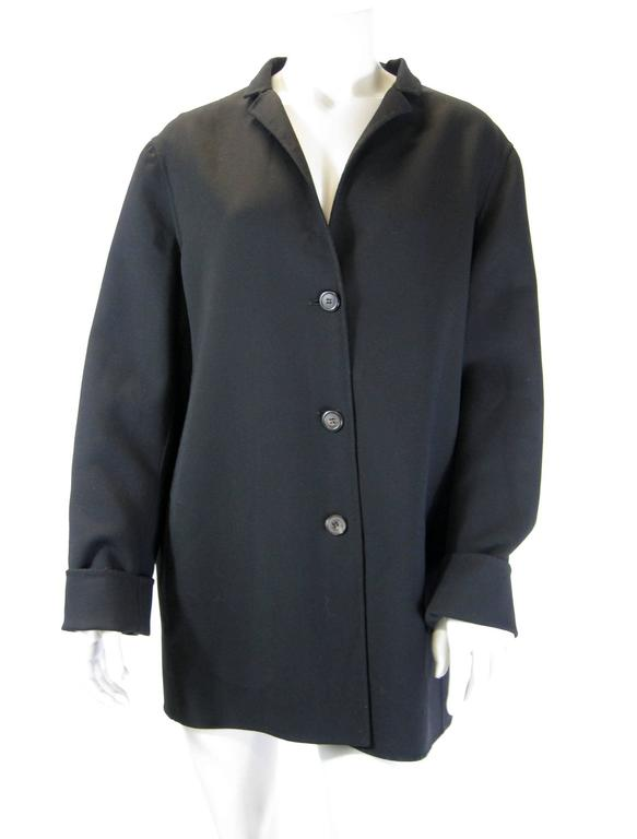 Jil Sander Black Wool Jacket In Excellent Condition For Sale In San Francisco, CA