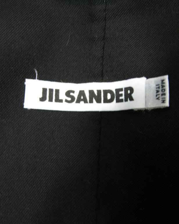 Jil Sander Black Wool Jacket For Sale 3