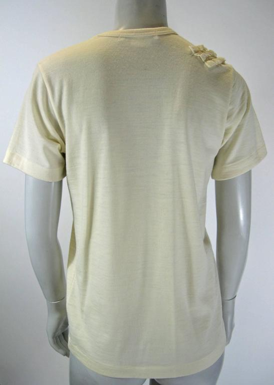 Comme Des Garcons Ruffle Neck Wool T-Shirt In Excellent Condition For Sale In San Francisco, CA