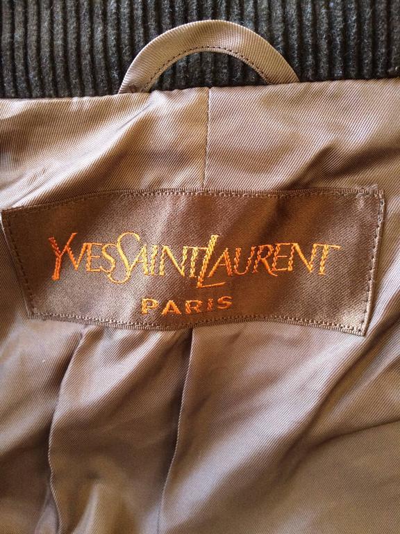 Women's Yves Saint Laurent Cotton & Corduroy Trench Coat For Sale