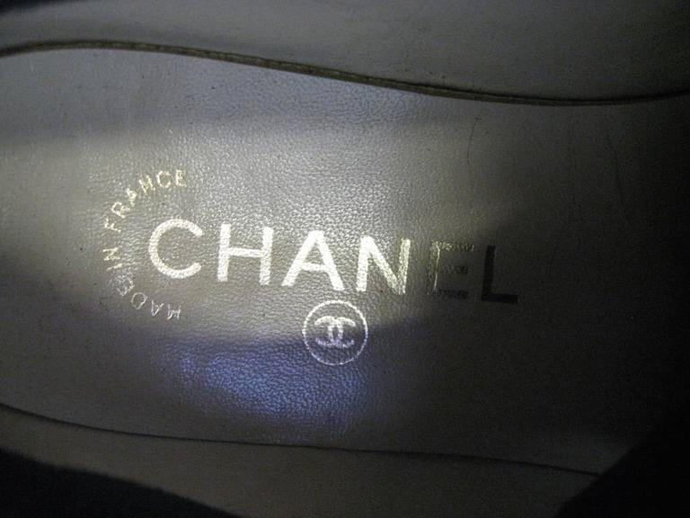 Chanel Black and Off-White Athletic Shoes  For Sale 4