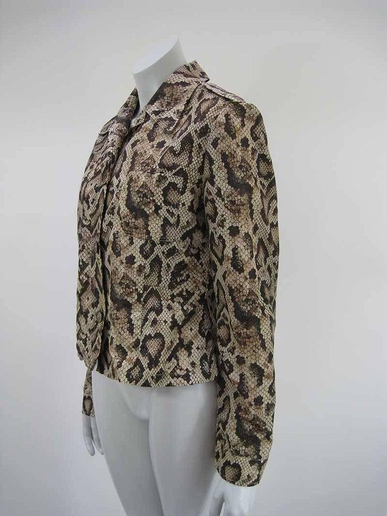 Dolce & Gabbana D&G Snakeskin Windbreaker Jacket 6