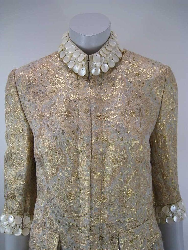 Dolce & Gabbana Gold Brocade Embellished Jacket 3