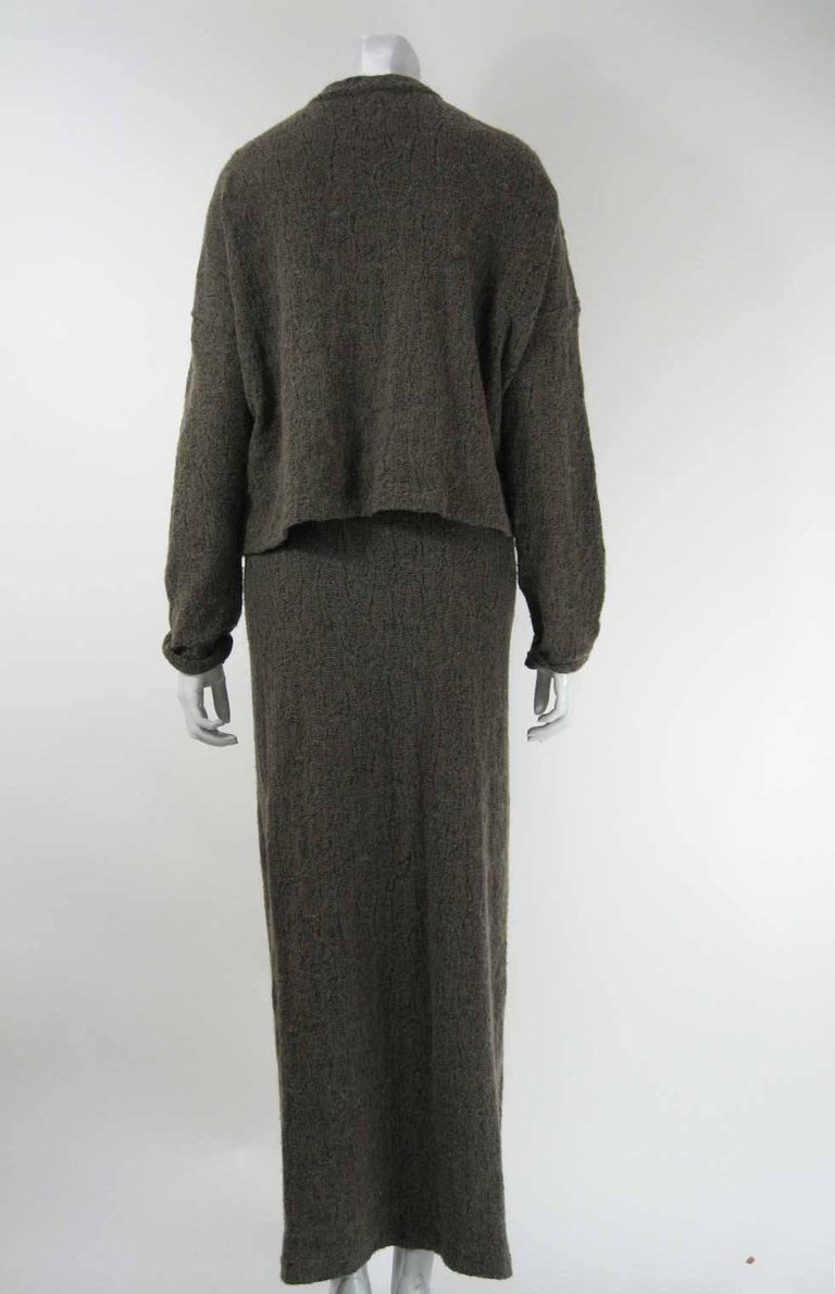 Plantation by Issey Miyake Textured Woven Jacket and Skirt For Sale 1