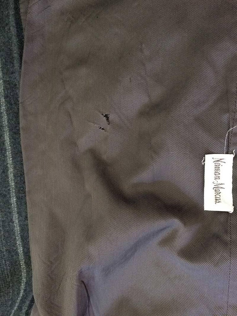 Gianni Versace Menswear Inspired Striped Wool Coat For Sale 1