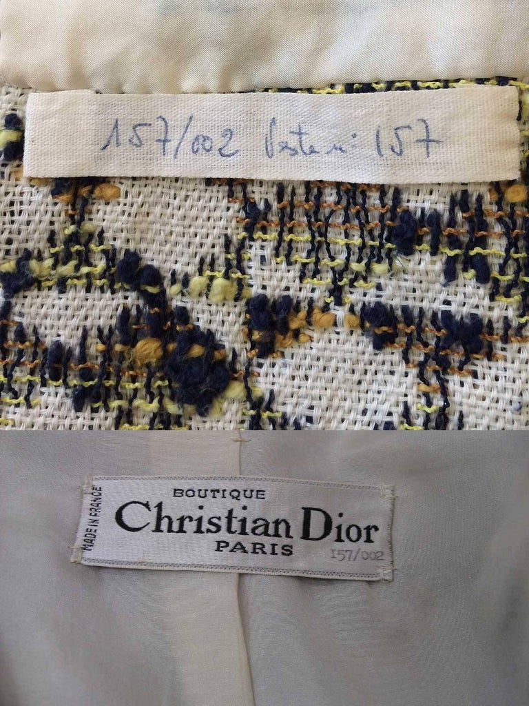 Christian Dior 1960's Marc Bohan Numbered Houndstooth Suit For Sale 5