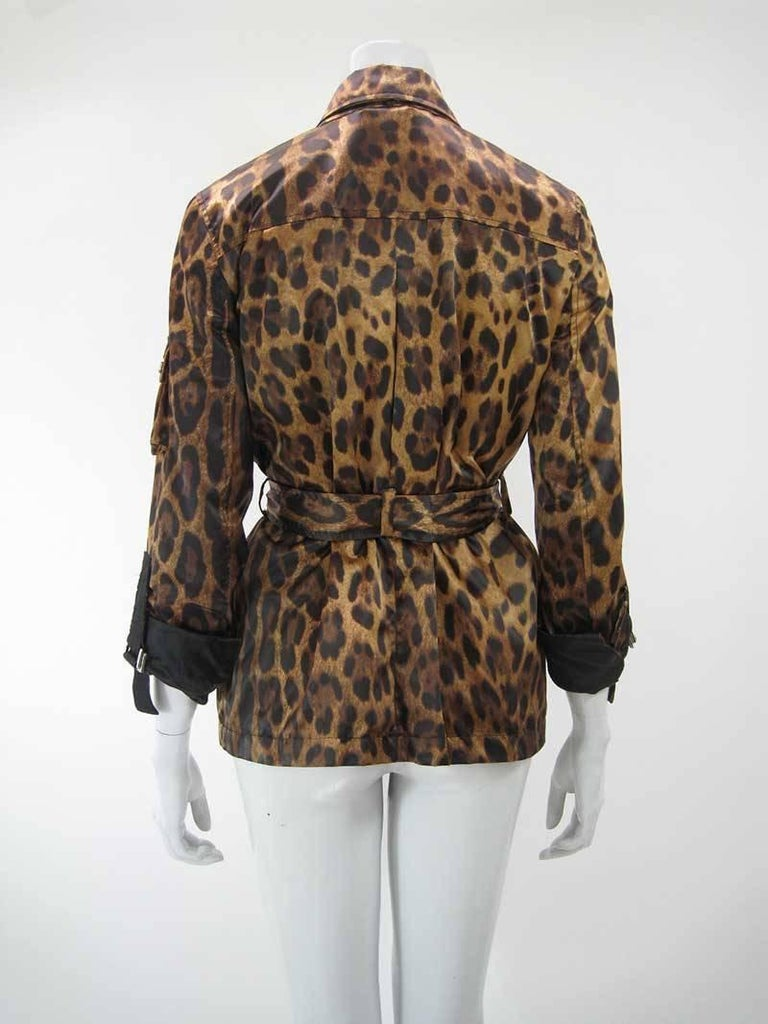Dolce & Gabanna Leopard Print Cargo Jacket 7