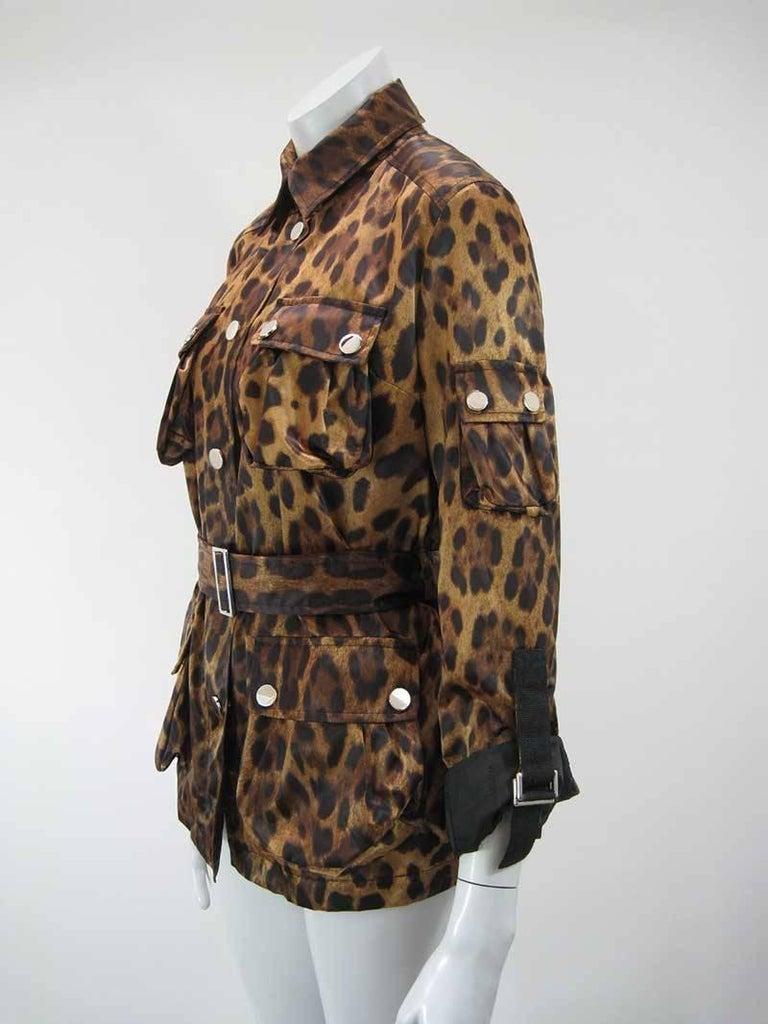 Dolce & Gabanna Leopard Print Cargo Jacket 5