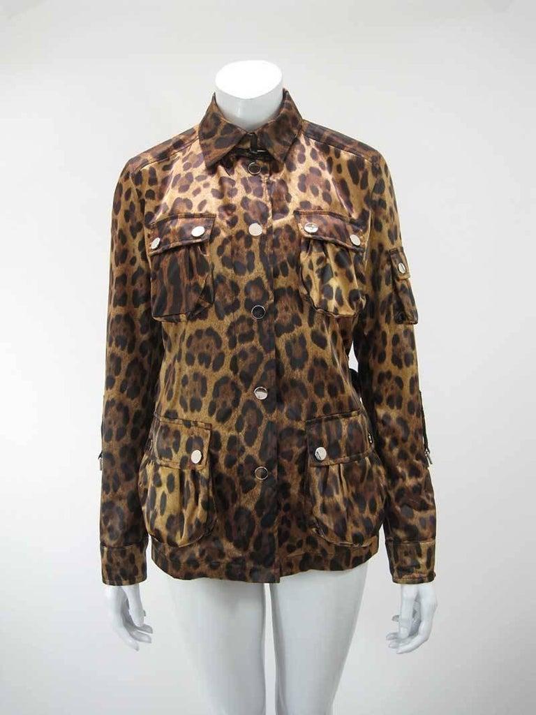 Dolce & Gabanna Leopard Print Cargo Jacket 6