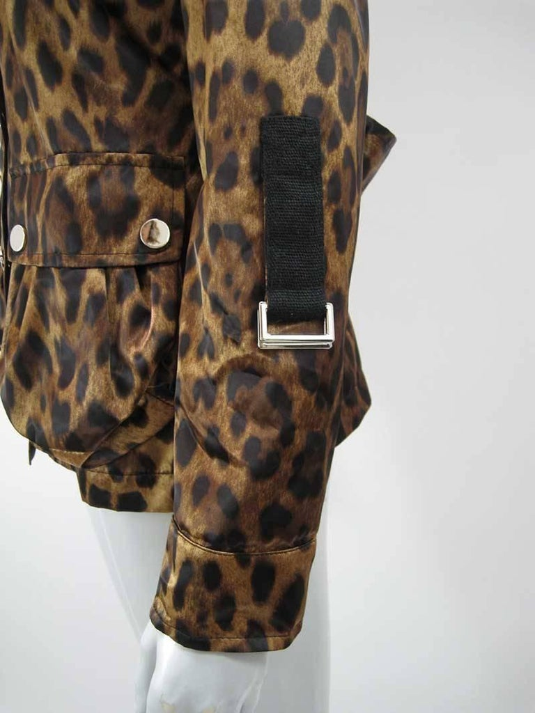 Dolce & Gabanna Leopard Print Cargo Jacket 3