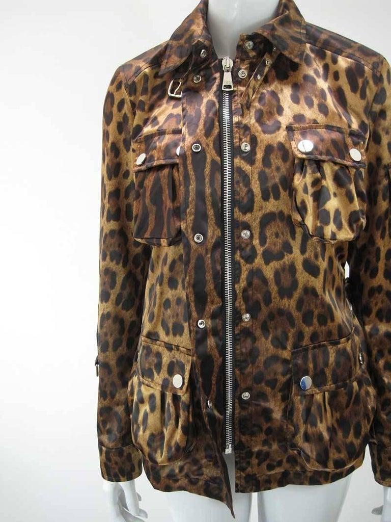 Dolce & Gabanna Leopard Print Cargo Jacket 8