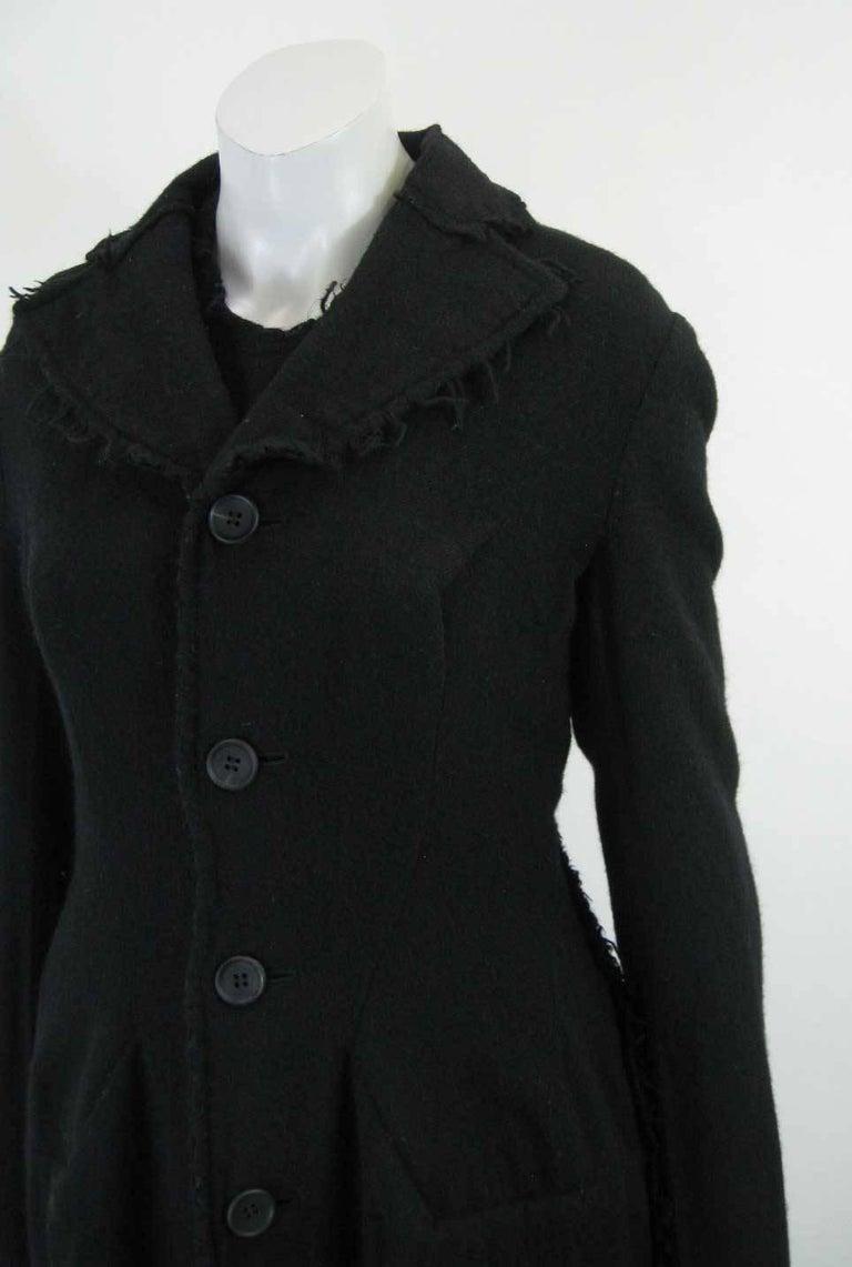Junya Watanabe for Comme des Garcons 2003 Frayed Hem Coat & Dress 2