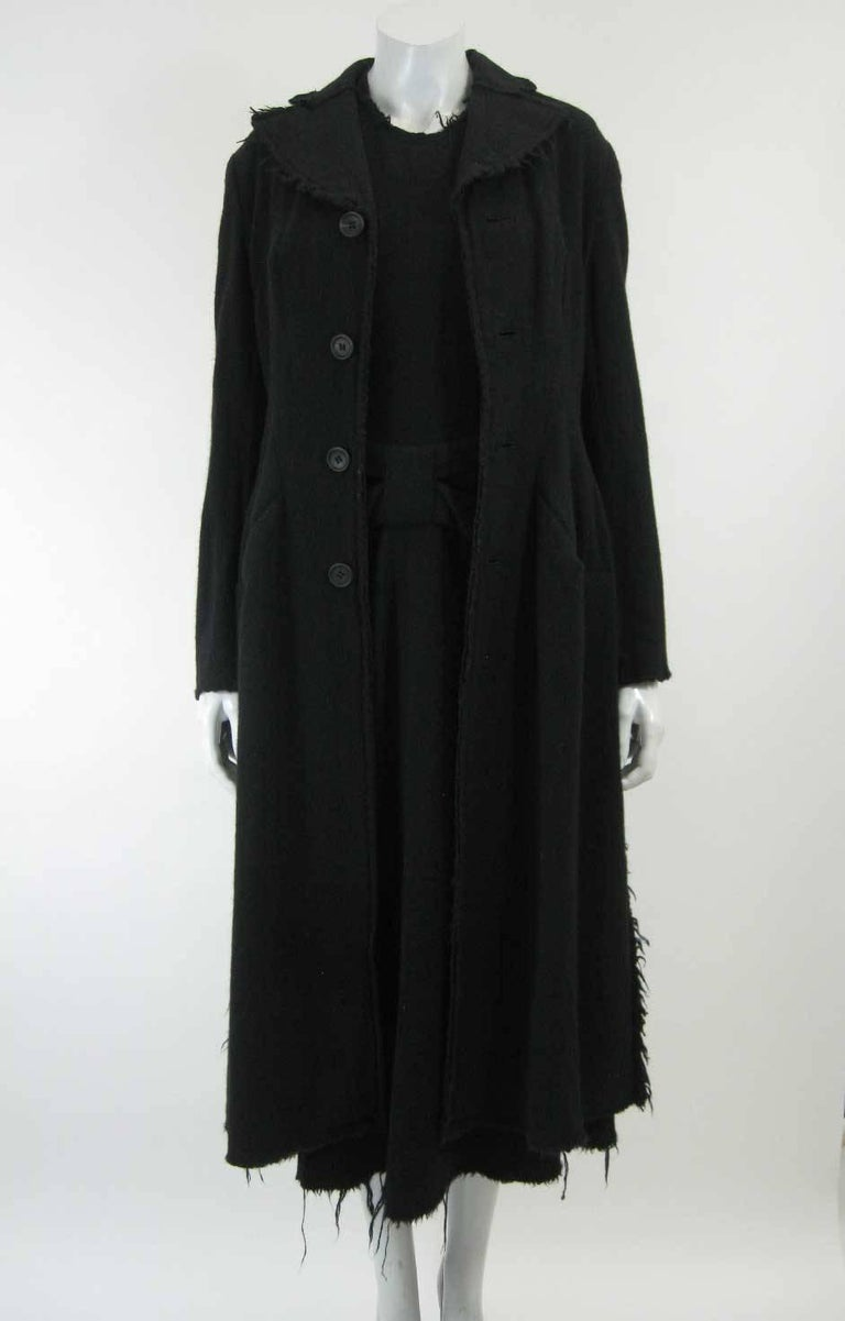 Junya Watanabe for Comme des Garcons 2003 Frayed Hem Coat & Dress 6