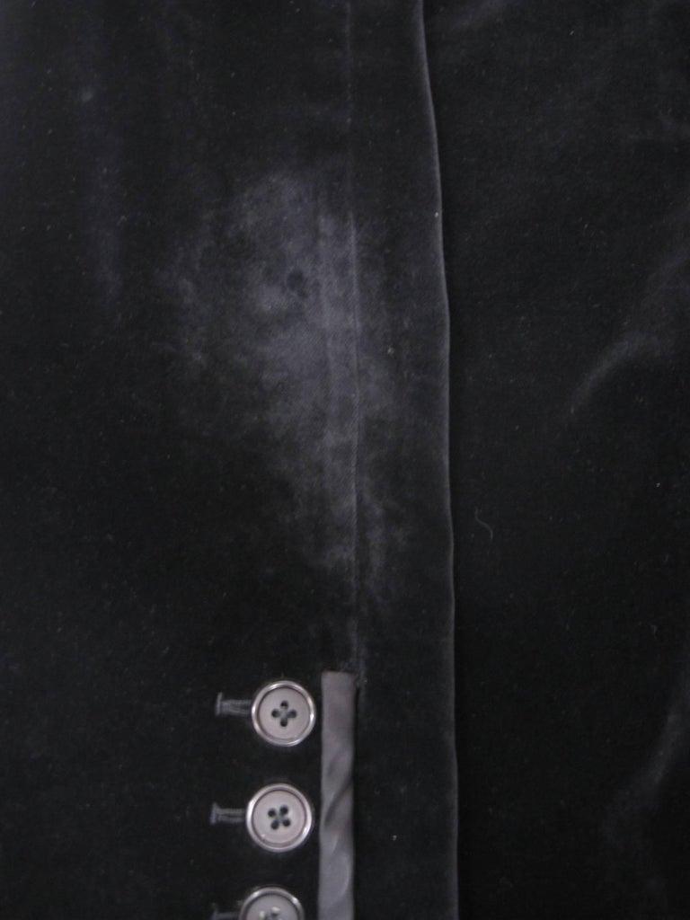 Yves Saint Laurent Rive Gauche Black Velvet Blazer  For Sale 2