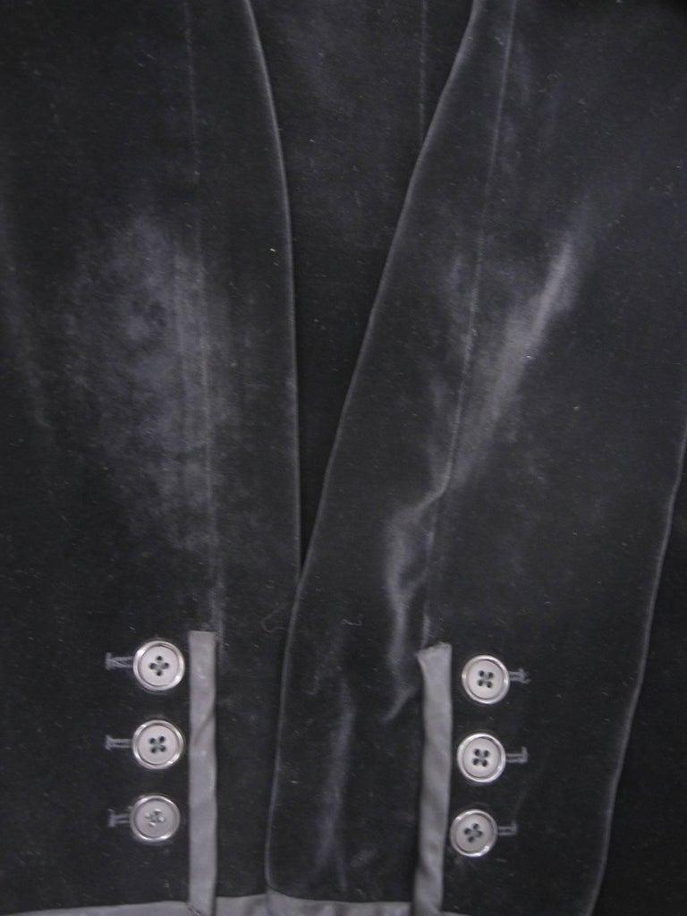 Yves Saint Laurent Rive Gauche Black Velvet Blazer  For Sale 3