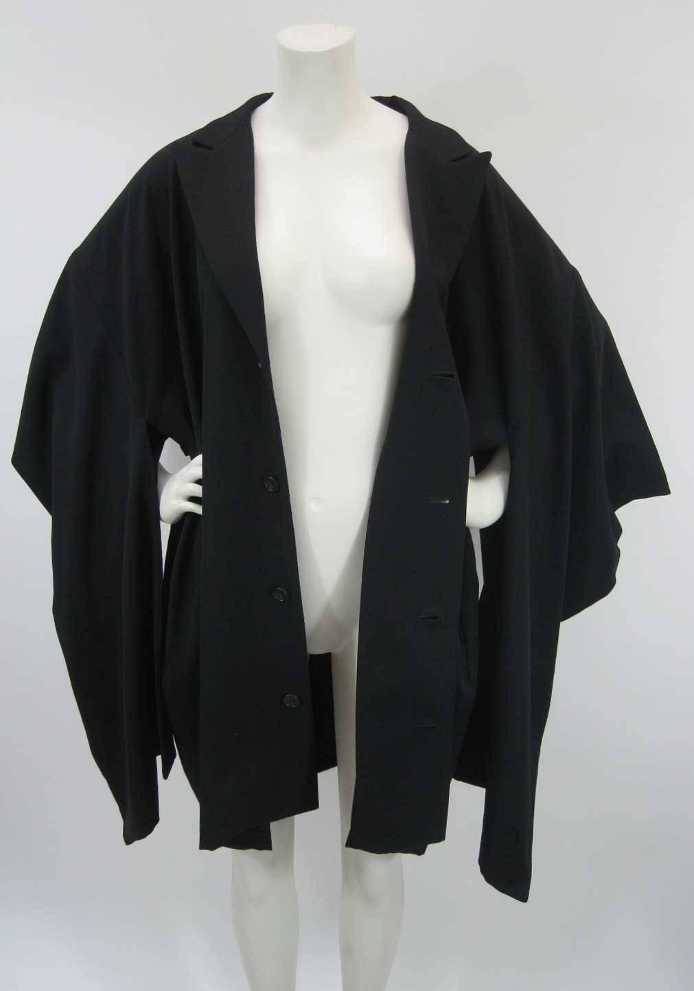 Free Shipping Visit New Official Site Vintage Black Wool Kimono Coat Yohji Yamamoto XsVbBm