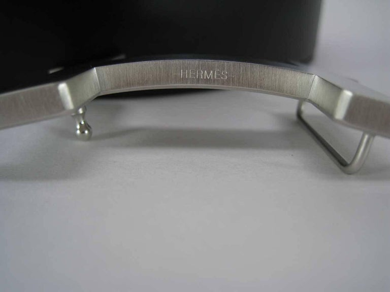 Hermes H Belt Buckle & Wide Reversible Leather Strap For Sale 1