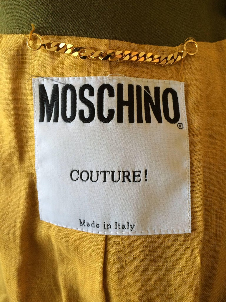Moschino Couture Intricately Woven & Beaded Tassel Jacket For Sale 3