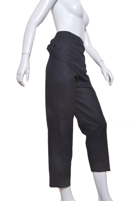 Vintage Gianni Versace black pants. Flat front with attached