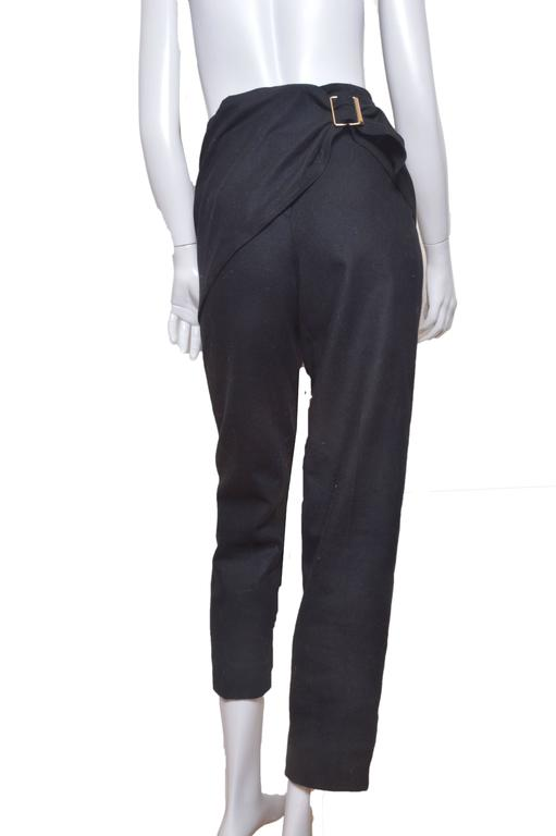 Women's GIanni Versace Black Wool Pants For Sale
