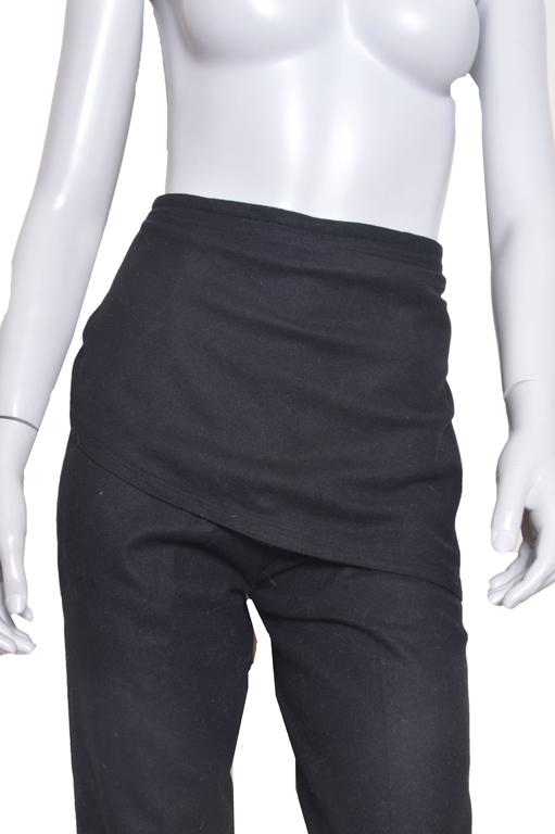 GIanni Versace Black Wool Pants In Excellent Condition For Sale In San Francisco, CA