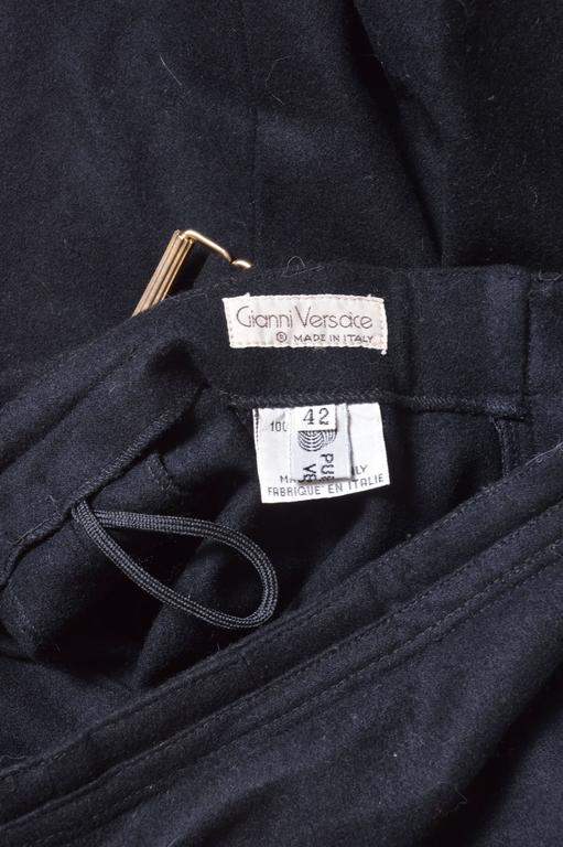 GIanni Versace Black Wool Pants For Sale 2