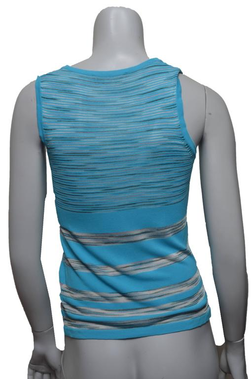 M Missoni Turquoise Sleeveless Top In Excellent Condition For Sale In San Francisco, CA