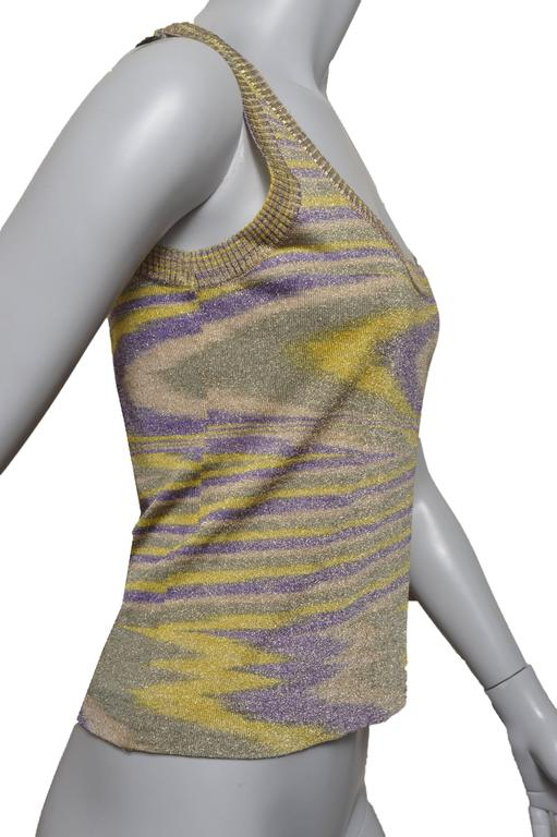 Missoni Metallic Woven Tank Top In Excellent Condition For Sale In San Francisco, CA