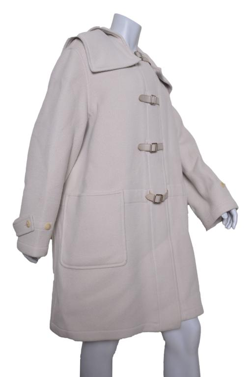 Herrmes Cashmere & Wool Hooded Coat In Good Condition For Sale In San Francisco, CA