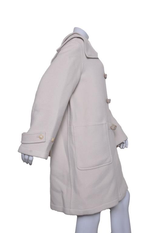 Women's Herrmes Cashmere & Wool Hooded Coat For Sale