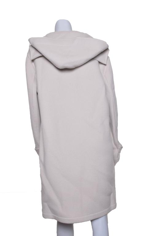 Herrmes Cashmere & Wool Hooded Coat For Sale 1