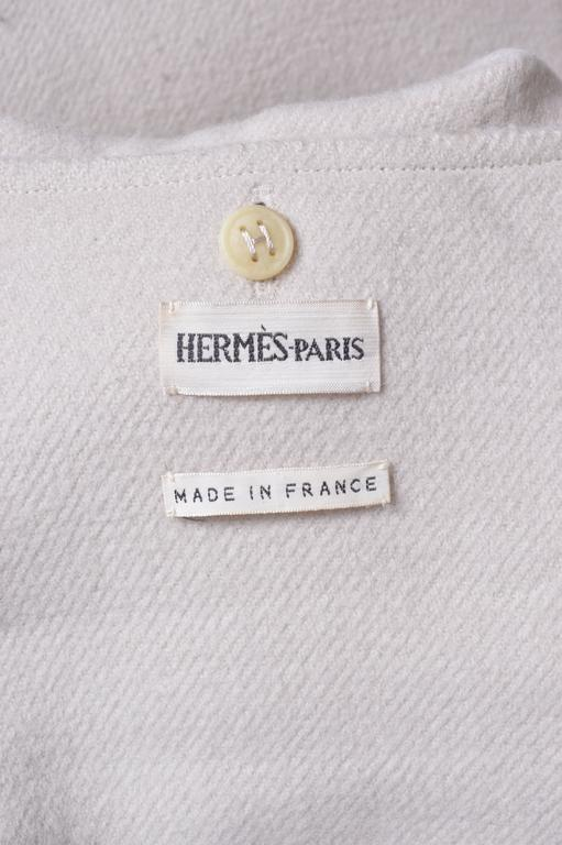 Herrmes Cashmere & Wool Hooded Coat For Sale 2