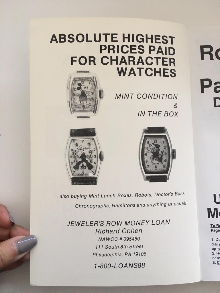 Gray Vintage America & European Character Wrist Watch Price Guide BOOK 3 For Sale