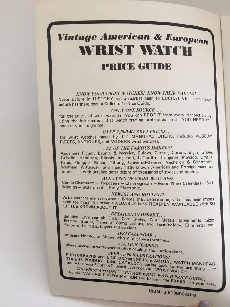 Vintage American & European Wrist Watch guide by Sherry Ehrhardt & Peter Planes - First Edition