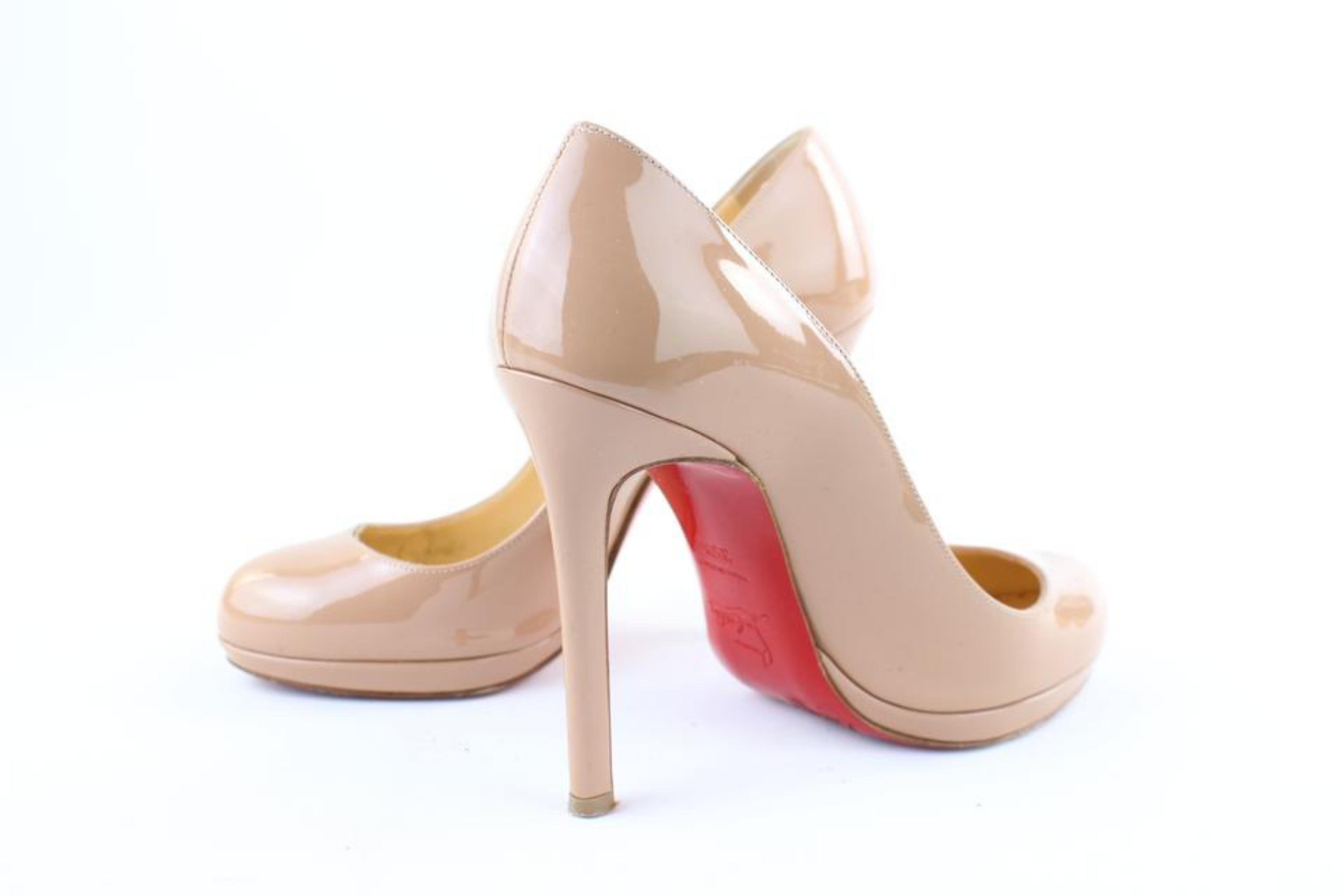 1d10d8c6c791 Christian Louboutin Beige Nude Neofilo 120 3clj1016 Pumps For Sale at  1stdibs