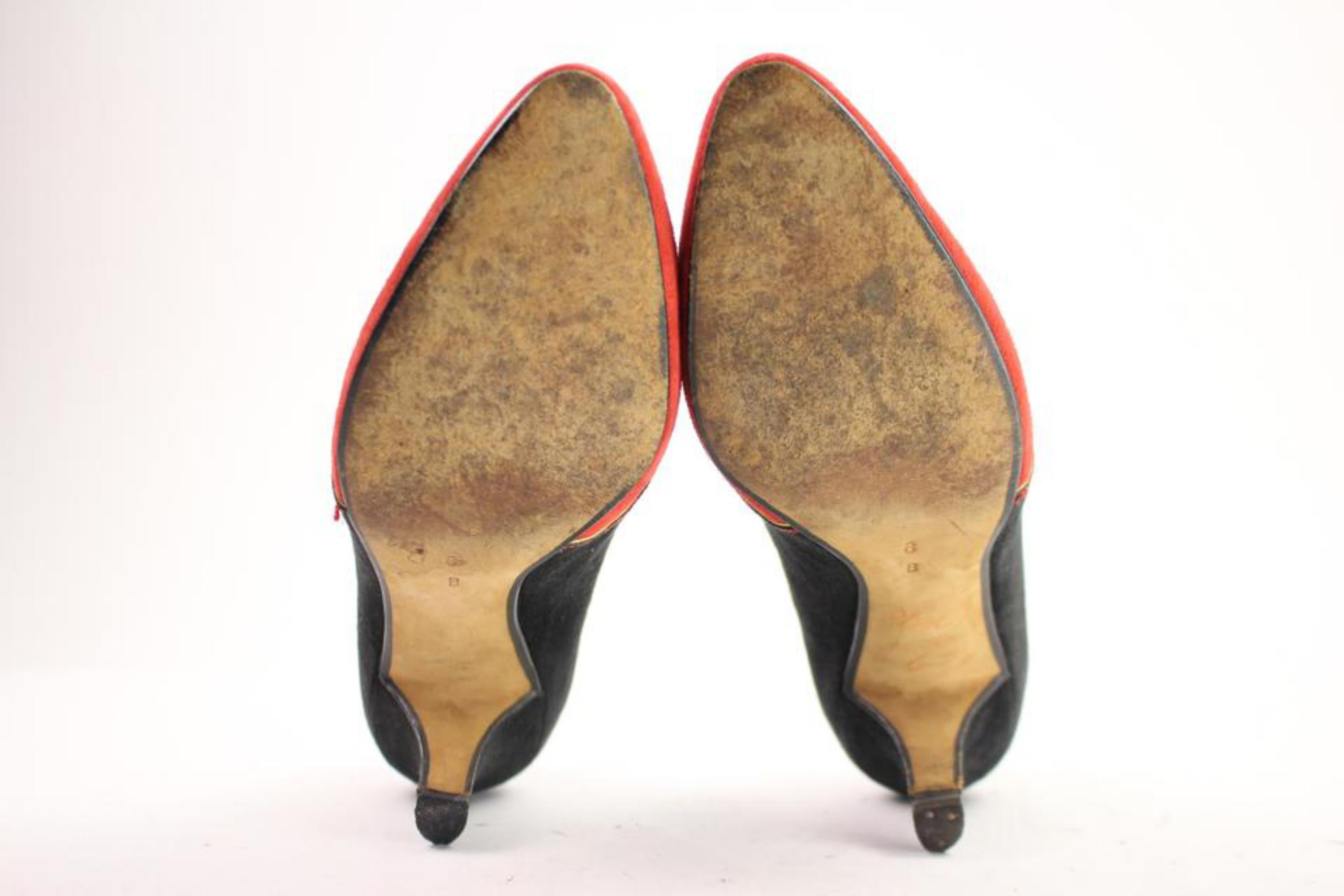 3cde10b784db Saks Fifth Avenue Black X Red Two-tone Heels 21mis104 Aplm1 Pumps For Sale  at 1stdibs