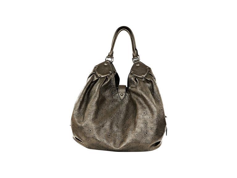 e36aebdd18cf Women s Bronze Leather Louis Vuitton Mahina XL Hobo Bag For Sale