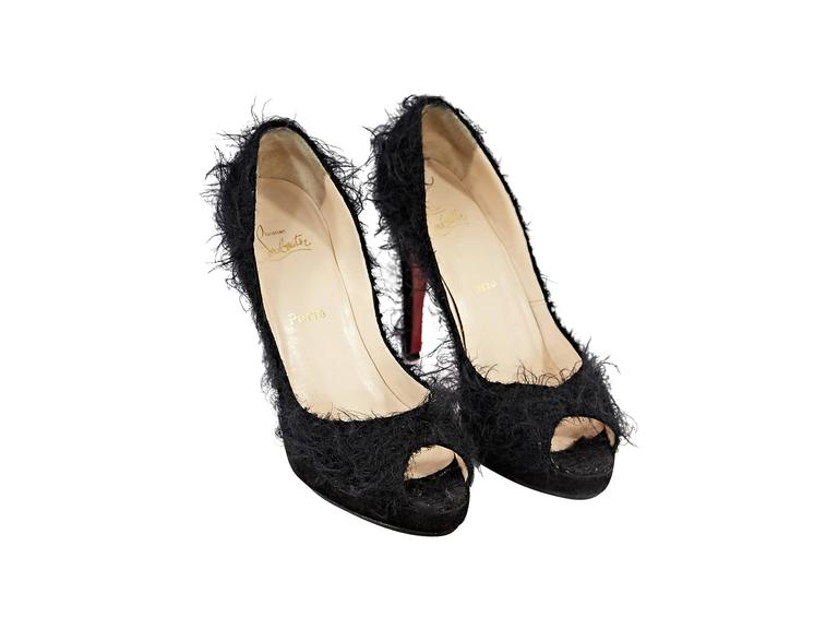 Black Christian Louboutin Textured Pumps 2
