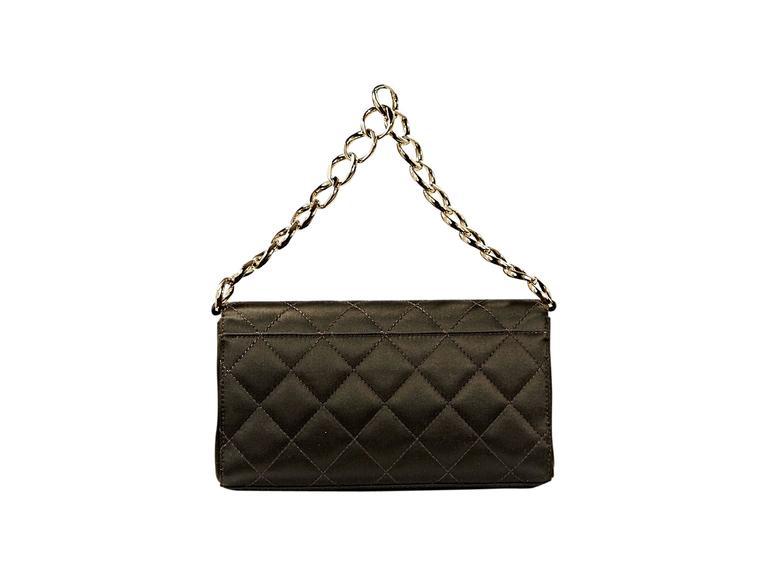 Brown Chanel Quilted Satin Shoulder Bag 3