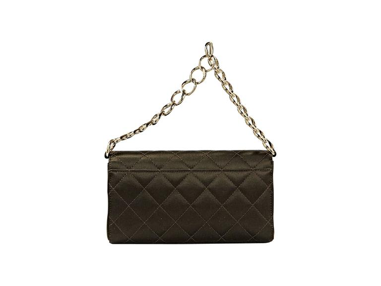 Brown Chanel Quilted Satin Shoulder Bag 4