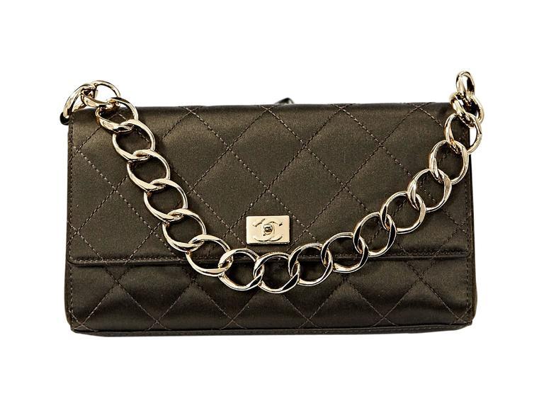 Brown Chanel Quilted Satin Shoulder Bag 5