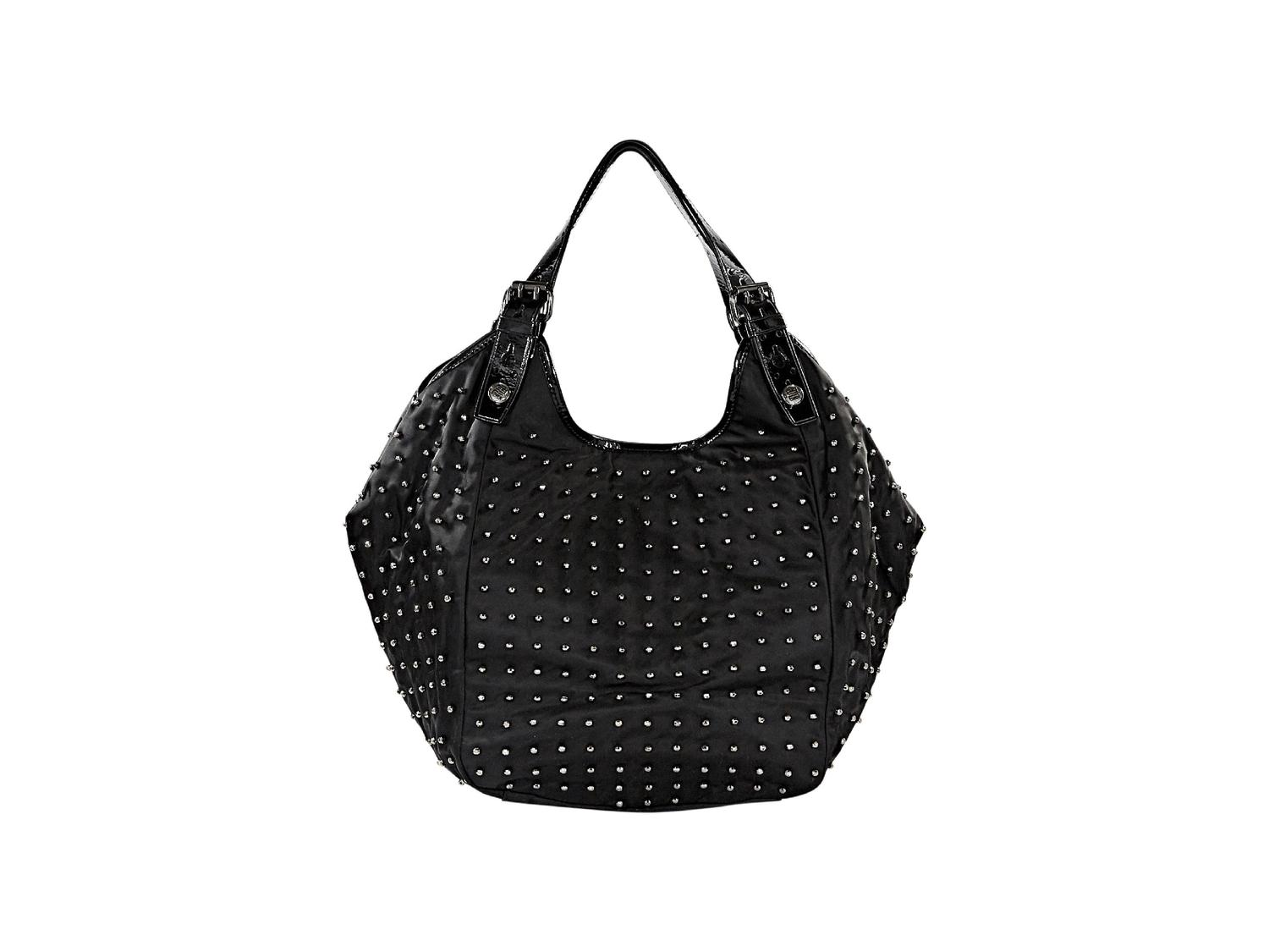Givenchy Black Nylon Beaded  New Sacca  Hobo Bag at 1stdibs 1c6d1944935d2
