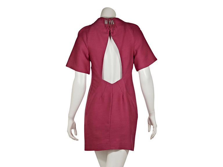 Pink Versace Silk & Wool Shift Dress 3