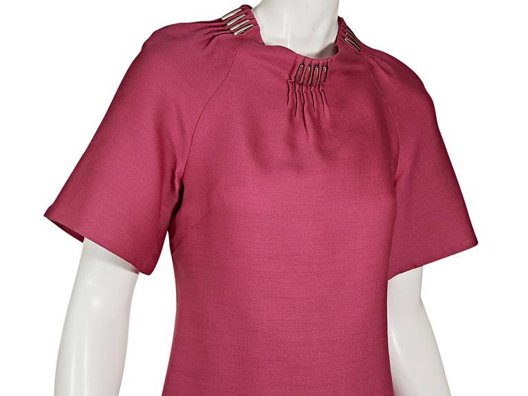 Pink Versace Silk & Wool Shift Dress 4
