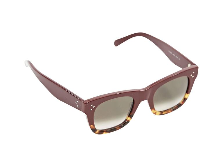Celine Tortoise Sunglasses  burgundy and tortoise celine catherine sunglasses at 1stdibs